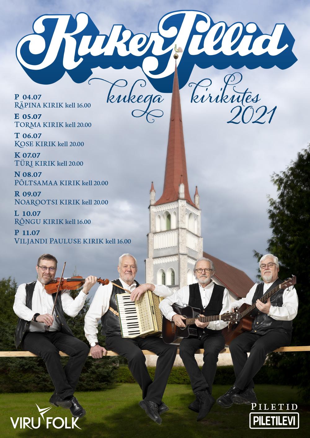 Kontsert: Kukerpillid kukega kirikutes @ Räpina Püha Miikaeli kirik | Räpina | Põlva maakond | Eesti