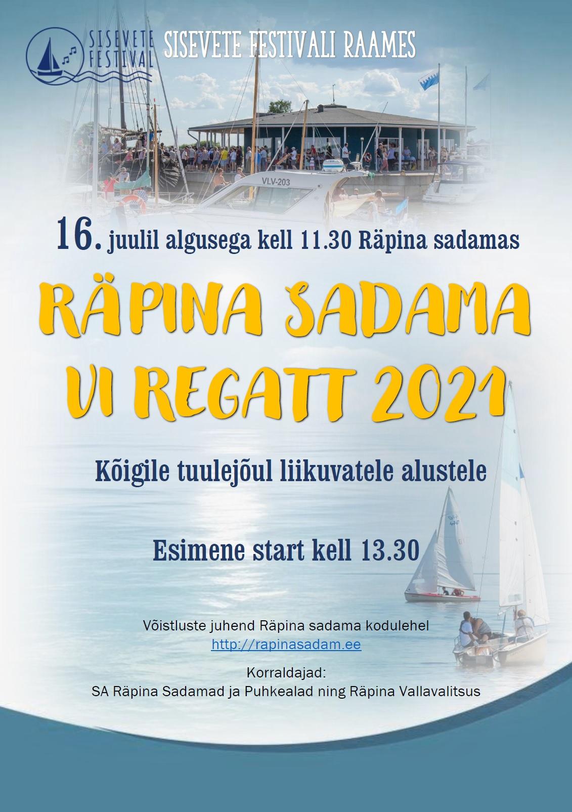 Sisevete festival: VI Räpina sadama regatt @ Räpina sadam | Eesti