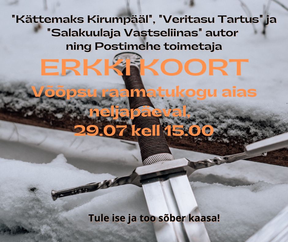 Autor ja toimetaja Erkki Koort Võõpsu raamatukogus @ Võõpsu raamatukogu | Võõpsu | Põlva maakond | Eesti