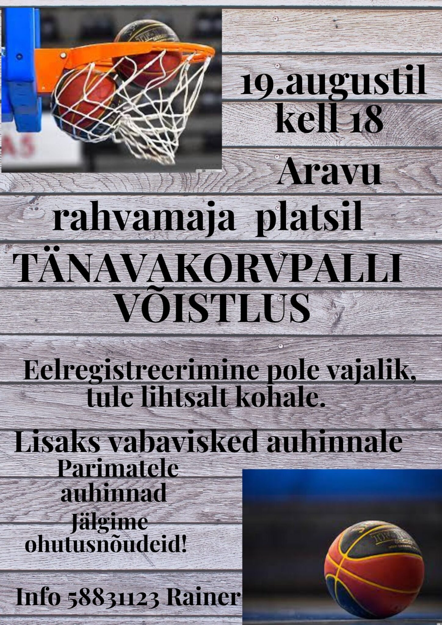 Tänavakorvpalli võistlus @ Aravu rahvamaja | Aravu | Tartu maakond | Eesti