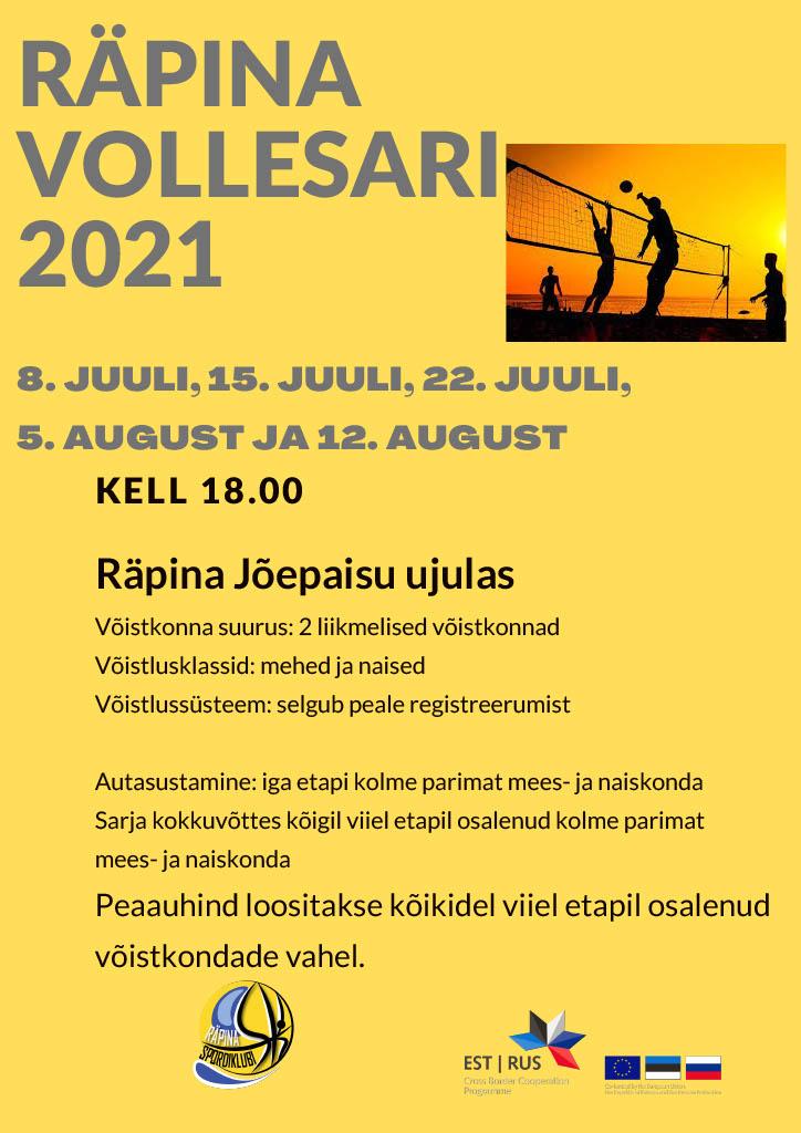 Räpina vollesari 2021 @ Räpina Jõepaisu ujulas