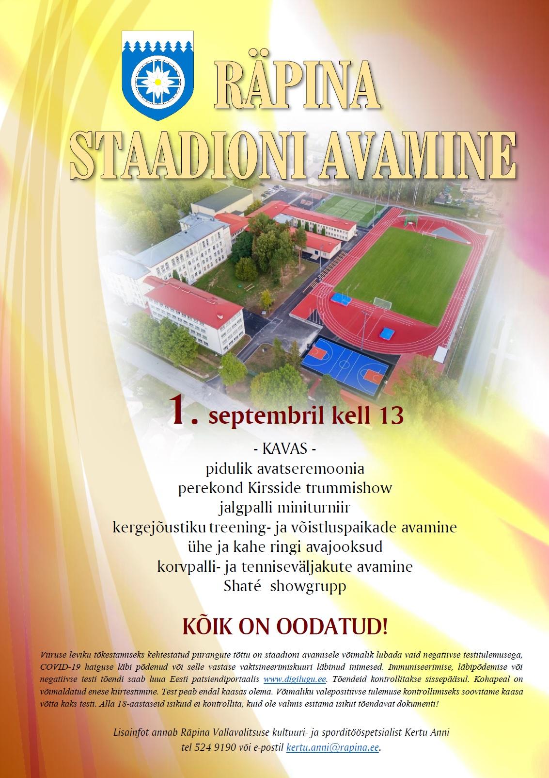 Räpina staadioni avamine @ Räpina | Põlva maakond | Eesti