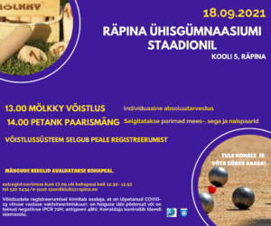 Räpina mölkky ja petank 2021 @ Räpina staadion | Räpina | Põlva maakond | Eesti