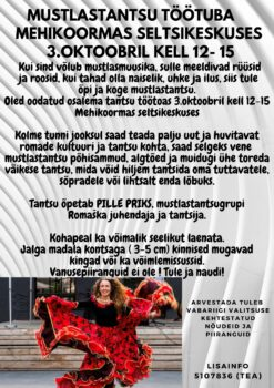 Mustlastantsu töötuba @ Mehikoorma seltsikeskus | Mehikoorma | Tartu maakond | Eesti