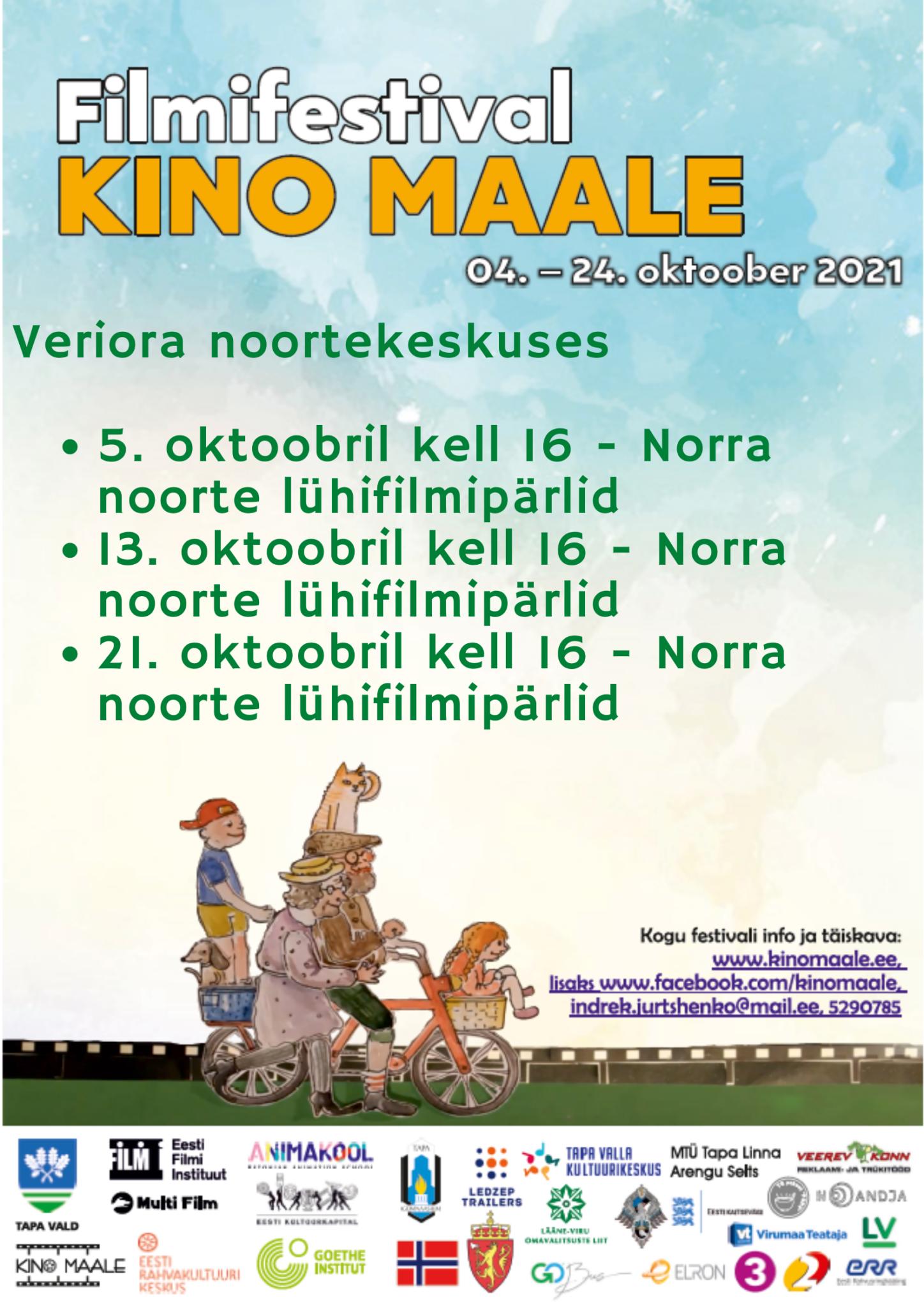 Filmifestival Kino maale: Norra noorte lühifilmipärlid @ Veriora noortekeskus | Veriora | Põlva maakond | Eesti
