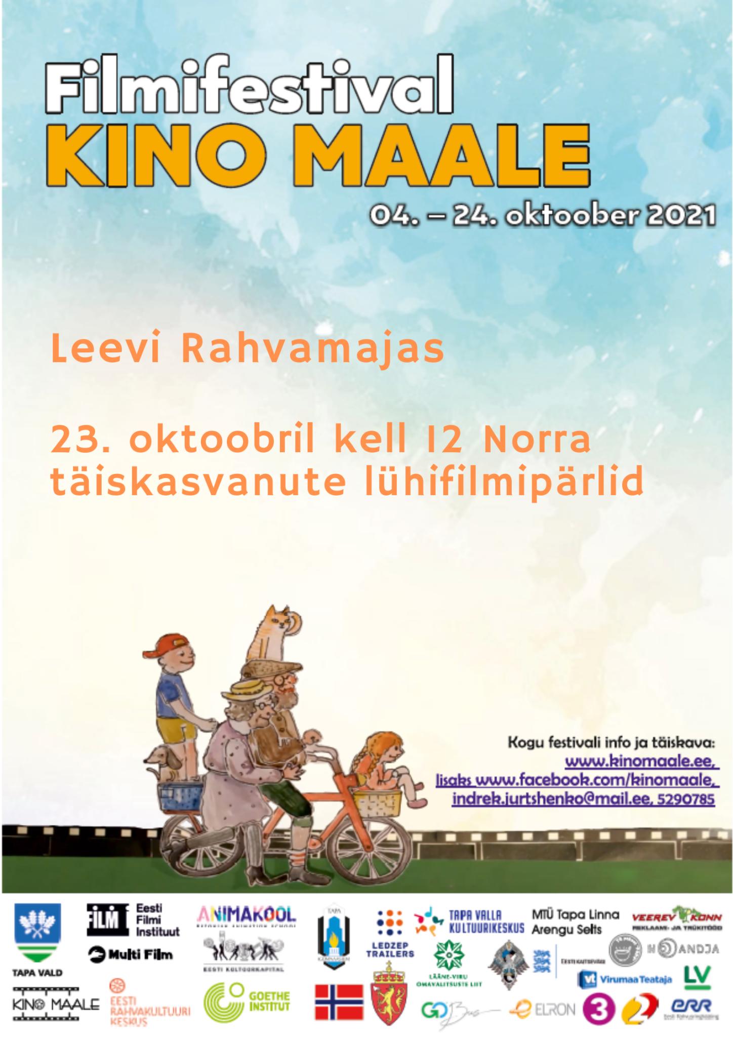 Filmifestival Kino maale: Norra täiskasvanute lühifilmipärlid @ Leevi rahvamaja | Leevi | Põlva maakond | Eesti