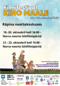 Filmifestival Kino maale: Norra noorte lühifilmipärlid @ Räpina noortekeskus | Räpina | Põlva maakond | Eesti